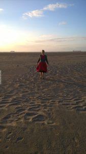 Oostende pláž v kempu