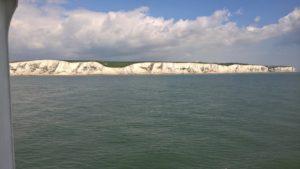 Doverský křídový útes, velmi zářivé a krásné!